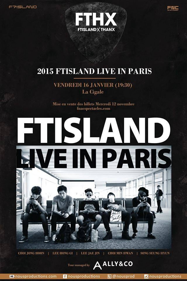 FTISLAND PARIS