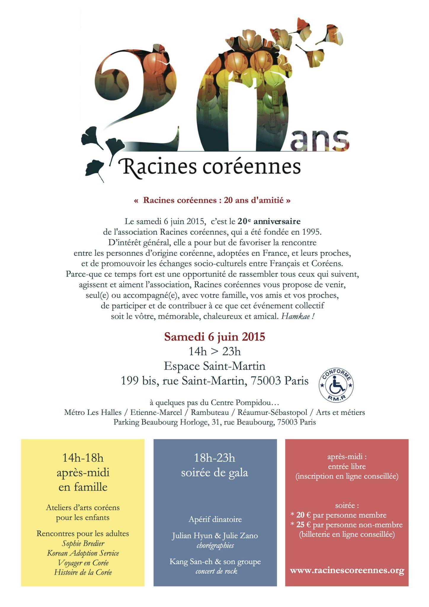 Programme 20 ans Racines Co